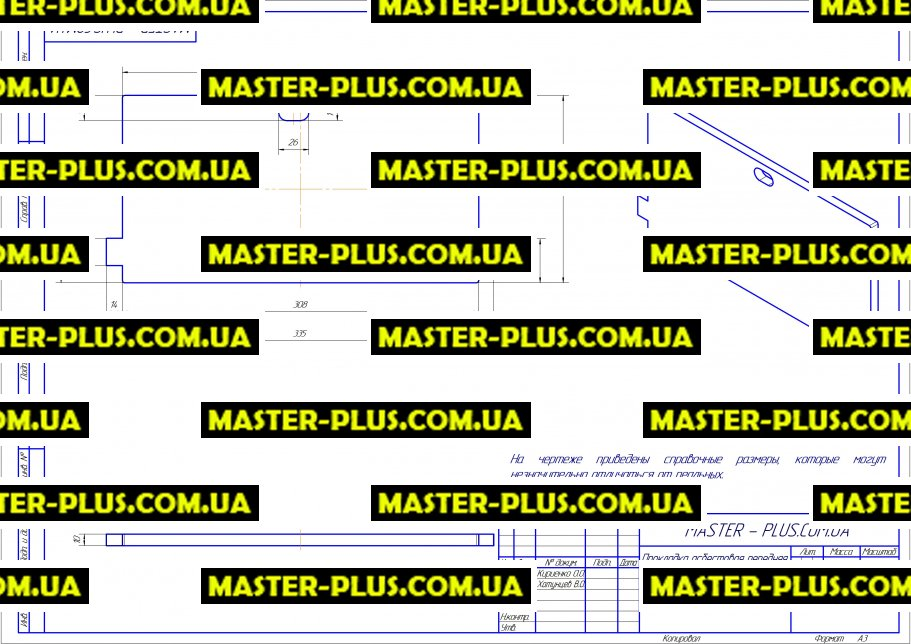Прокладка асбестовая передняя для котла газового Immergas Eolo Mini 1.025407 для котлов чертеж