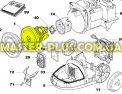 Двигатель пылесоса Electrolux 1096542012 для пылесоса Фото №1