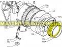 Резина (манжет) люка Zanussi 1260416209 для стиральной машины Фото №5