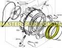 Резина (манжет) люка Electrolux 1326631023 для стиральной машины Фото №1
