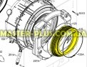 Резина( манжет люка) Electrolux 1326631122 для стиральной машиныФото №{num}