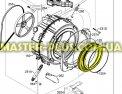 Резина (манжет) люка Zanussi 1327756100 для стиральных машин Фото №1