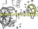 Шкив Zanussi 1462591015 для стиральной машины Фото №5