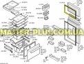 Уплотнительная резина морозильной камеры Bosch 212470 для холодильника Фото №1