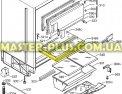 Полка стеклянная с обрамлением Electrolux 2251374357 для холодильников Фото №4