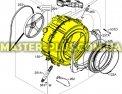 Бак с барабаном в сборе Zanussi 3484159839 для стиральной машины Фото №1