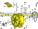 Бак в сборе с барабаном Electrolux Zanussi 4071424222 для стиральной машины Фото №1