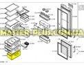 Ящик нижний морозильной камеры Bosch 434496 для холодильника Фото №1