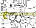 Резина (манжет) люка Whirlpool 481231018865 для стиральной машины Фото №1