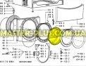 Стекло двери (люка) Whirlpool 481245078023 для стиральной машины Фото №3