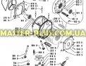 Патрубок от бака к насосу Whirlpool 481253028859 для стиральных машин Фото №1