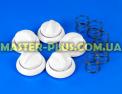 Комплект белых ручек Gefest 1140.71.0.000 для плиты и духовки Фото №1