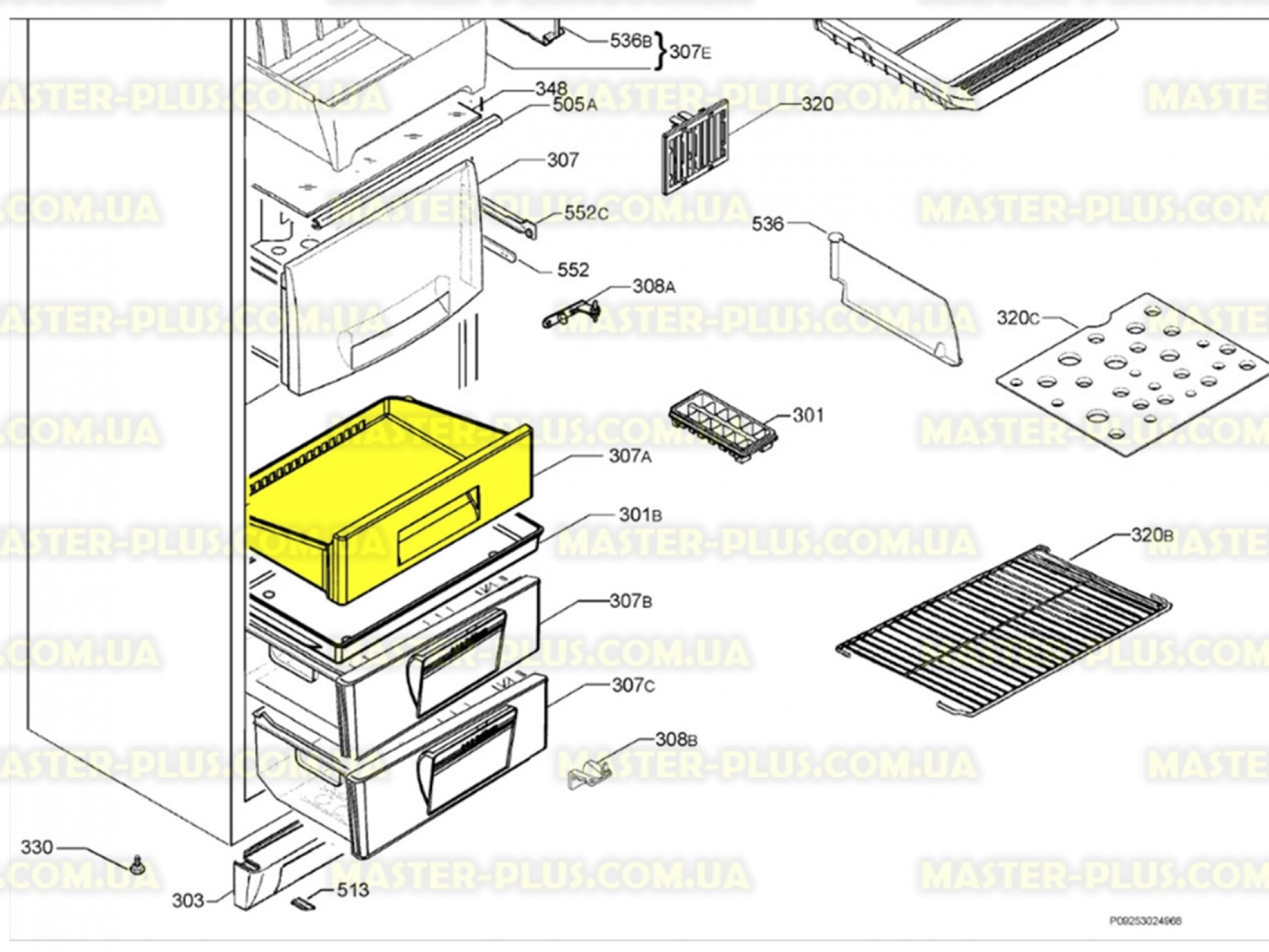 Ящик морозильной камеры (верхний) Electrolux 2426235137. Купить Ящик для холодильников. 2426235137, 2426235236