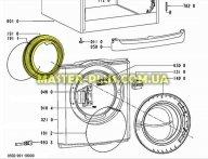 Резина (манжет) люка Whirlpool 480111100188 для стиральной машины
