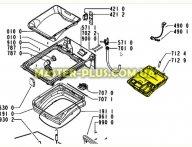 Бункер (дозатор) порошка для Стиральной машины Whirlpool 481241868404 для стиральной машины