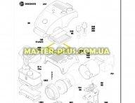 Уплотнительная резинка корпуса мотора Candy 03875077 для пылесоса
