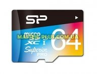 Карта памяти Silicon Power 64GB microSD class10 UHS-I Superior PRO COLOR (SP064GBSTXDU3V20SP) для компьютера