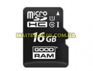 Карта памяти GOODRAM 16GB microSDHC Class 10 UHS I (M1AA-0160R11) для компьютера