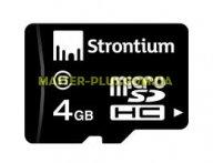 Карта памяти STRONTIUM Flash Miсro-SDHC memory card 4Gb Class 6 (SR4GTFC6R)