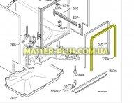Уплотнительная резина дверки Electrolux 1171265026 для посудомоечной машины