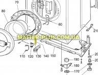 Крепление ручки (штырь) Electrolux 1240138006 для стиральной машины