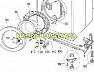 Пружина ручки люка Electrolux 1240139038 для стиральной машины