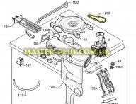 Ремень вентилятора сушки «MEGADYNE» для Стиральной машины Electrolux 1240827426 желтый для стиральной машины