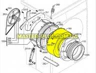 Передняя часть бака Zanussi 1245110422  для стиральной машины