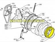 Резина (манжет) люка Zanussi 1260589005 для стиральной машины