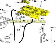 Пластиковая панель с распределителем воды Zanussi 1292853403  для стиральной машины