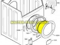 Стекло дверки (люка) Zanussi 1321448100 для стиральной машины