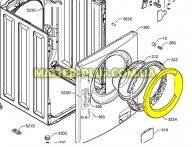 Обечайка наружная дверки люка Zanussi 1325017315 для стиральной машины