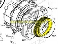 Резина( манжет люка) Electrolux 1326631122 для стиральной машины