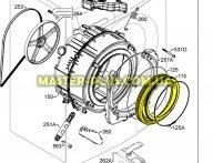 Резина (манжет) люка Zanussi 1327756100 для стиральной машины