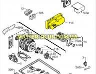 Диспенсер (дозатор) моющего средства Electrolux 1520806504 для посудомоечной машины