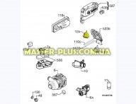 Пресостат (датчик уровня воды) Electrolux 1528189127 для посудомоечной машины