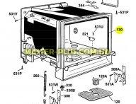 Резина двери посудомоечной машины Electrolux 1551174004 для посудомоечной машины
