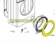 Обечайка люка (наружная) Electrolux 1552109017 для стиральной машины