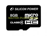 Карта памяти Silicon Power 8Gb microSDHC class 4 (SP008GBSTH004V10) для компьютера