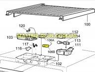 Термостат К-57 2,5м Electrolux Zanussi AEG 2054704537 для холодильника