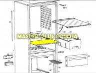 Полка над ящиком для овощей Electrolux 2062047010 для холодильника