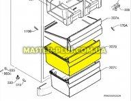 Ящик морозильной камеры (средний) Electrolux 2109451019 для холодильника