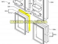 Передняя панель (фасад) правой двери морозильной камеры Electrolux 2216351052 для холодильника