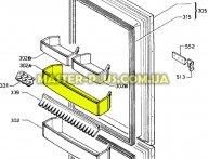 Полка балкон нижняя Electrolux 2246032086 для холодильника