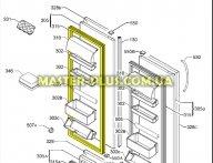 Резина  двери холодильной камеры Electrolux 2248016764  для холодильника