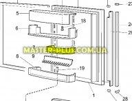 Полка балкон средняя Electrolux 2273046165  для холодильника