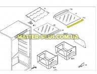 Обрамление стеклянной полки (переднее) Zanussi 2425097025 для холодильника