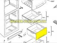 Передняя панель ящика морозильной камеры (среднего) Electrolux  2426278103 для холодильника