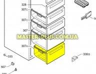 Ящик морозильной камеры (нижний) Zanussi 2426287161 для холодильника
