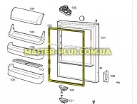Резина двери холодильной камеры Zanussi 2426448011 для холодильника